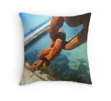 Red and Burnt Throw Pillow