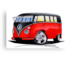 VW Splitty (11 Window) Camper (E) Canvas Print