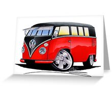 VW Splitty (11 Window) Camper (E) Greeting Card
