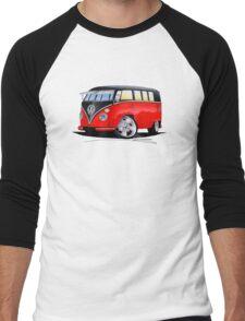 VW Splitty (11 Window) Camper (E) Men's Baseball ¾ T-Shirt