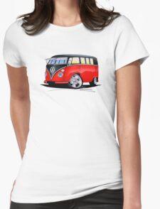 VW Splitty (11 Window) Camper (E) Womens Fitted T-Shirt