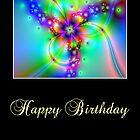 Happy Birthday Flower Fractals by Inge Willsen