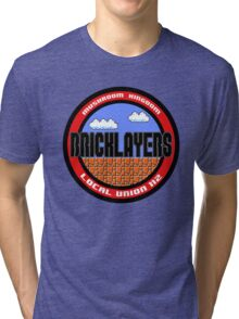 Mushroom Kingdom Bricklayers Tri-blend T-Shirt