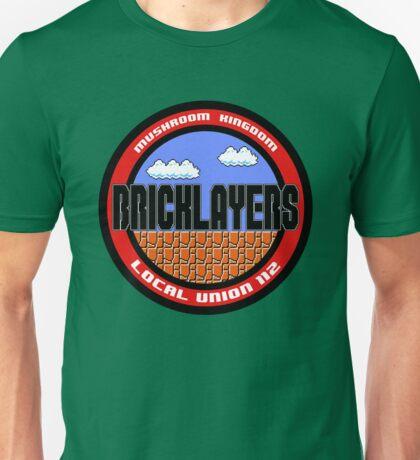 Mushroom Kingdom Bricklayers Unisex T-Shirt