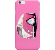 VW Splitty Camper Van Pink iPhone Case/Skin