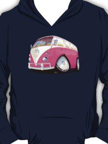 VW Splitty Camper Van Pink T-Shirt