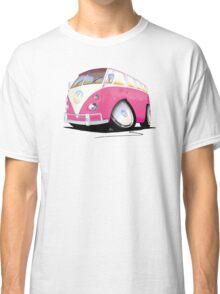 VW Splitty Camper Van Pink Classic T-Shirt