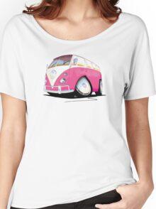 VW Splitty Camper Van Pink Women's Relaxed Fit T-Shirt