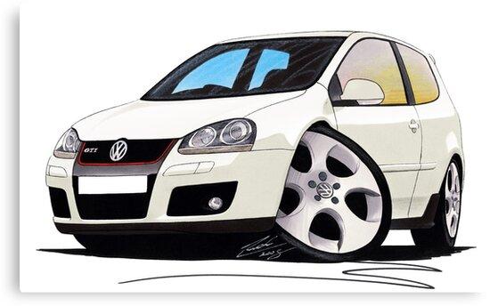 VW Golf GTi (Mk5) White by Richard Yeomans