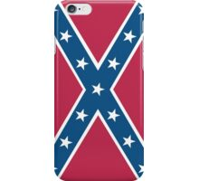 Confederate, Rebel, Dixie Flag, C.S.A, America, American, Americana, Pure & Simple, Portrait, upright iPhone Case/Skin