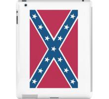 Confederate, Rebel, Dixie Flag, C.S.A, America, American, Americana, Pure & Simple, Portrait, upright iPad Case/Skin