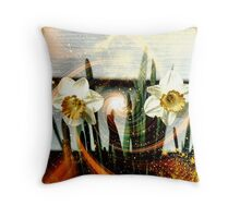 Song of the Daffodils Throw Pillow
