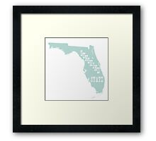Florida State Motto Slogan Framed Print