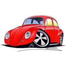 VW Beetle (Custom A) Photographic Print