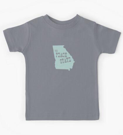 Georgia State Motto Slogan Kids Tee