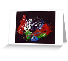 Heavy acrylic abstract (Eternity) Greeting Card