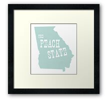 Georgia State Motto Slogan Framed Print