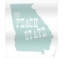 Georgia State Motto Slogan Poster