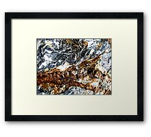 Mountain Snowstorm Framed Print