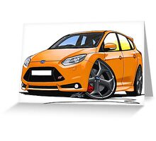Ford Focus ST (Mk3) Orange Greeting Card