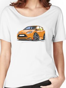 Ford Focus ST (Mk3) Orange Women's Relaxed Fit T-Shirt