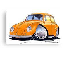 VW Beetle Orange Canvas Print