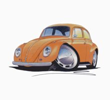 VW Beetle Orange Kids Tee