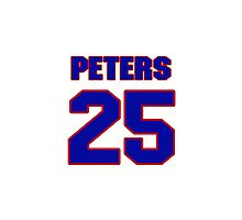 Hey, you must be a big fan of Peters, if not pls search for your favourite players jersey to wear it proudly.  Photographic Print