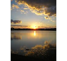 clouds framed by sunset Photographic Print