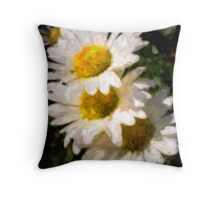 Painted Daisy's Throw Pillow