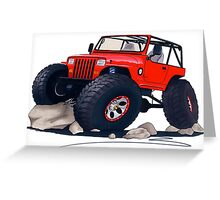 Custom Jeep Greeting Card