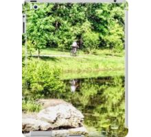 Bicycling by the Lake iPad Case/Skin