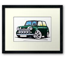 Rover Mini Cooper Sport BRG Framed Print