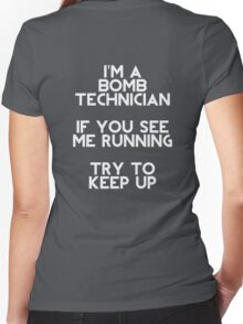 I'm a Bomb Technician Women's Fitted V-Neck T-Shirt
