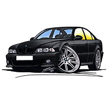 BMW M5 (E39) Black Photographic Print