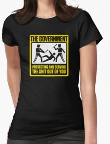 Protecting And Serving The Shit Out Of You Womens Fitted T-Shirt