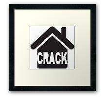CRACK HOUSE Framed Print