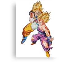 "Goku & Gohan ""Father-Son kamehameha"" - Dragon Ball Z Canvas Print"