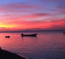 Fijian sunset by KimmyEvans