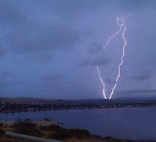 Lightning at Victor Harbor by Matt Harvey