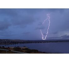 Lightning at Victor Harbor Photographic Print