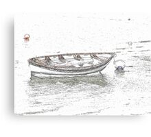 Lonely punt Canvas Print