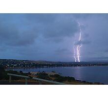 Lightning over Encounter Bay Photographic Print