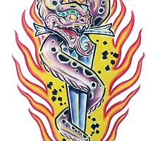 Snake and Dagger by Derek Mullins