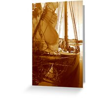 Cast Off  Greeting Card