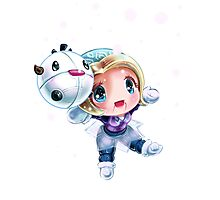 Chibi Winter Wonder Orianna Photographic Print