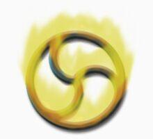 Fire Triskelion on White by kinkykitee