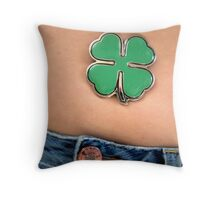 Irish Bellybutton Throw Pillow