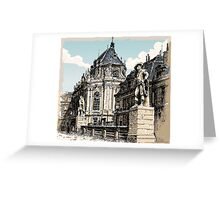 Vintage Hand Drawn View of Versailles Chapel Greeting Card
