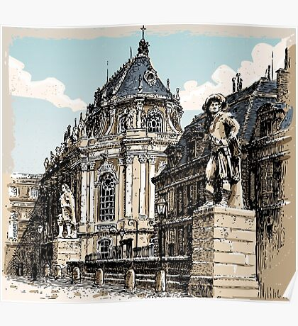 Vintage Hand Drawn View of Versailles Chapel Poster